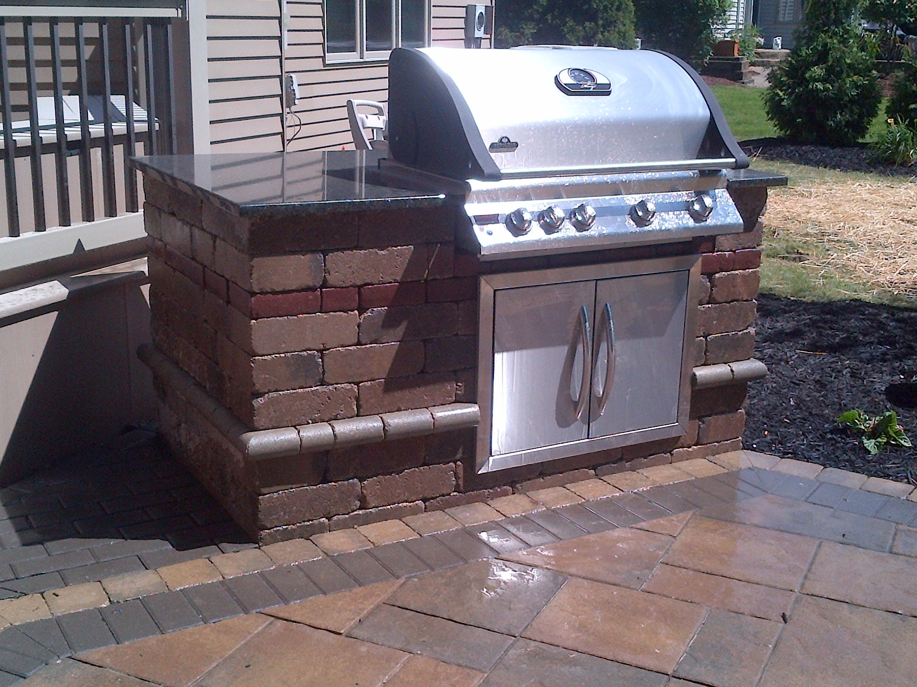 Image of: Baron Landscaping Outdoor Kitchen Contractor Cleveland Intended For Unilock Outdoor Kitchens Decorate Unilock Outdoor Kitchens