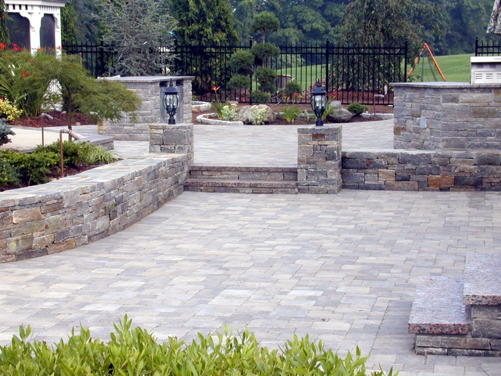 Image of: Basalite Paver Patio Paver Idea Gallery Natural Stone Pavers For Landscaping Pavers Easy Steps To Install Landscaping Pavers