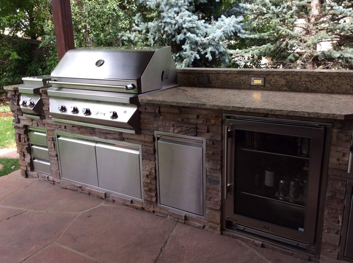Image of: Beautiful Custom Kitchen With Beverage Center Hi Tech Appliance For Outdoor Kitchen Beverage Center Good Outdoor Kitchen Beverage Center