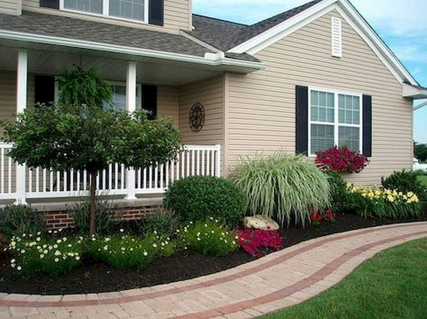 Image of: Beautiful Front Yard Landscaping Ideas Landscaping Front Walkways Throughout Front Sidewalk Landscaping Ideas How Lay Front Sidewalk Landscaping Ideas