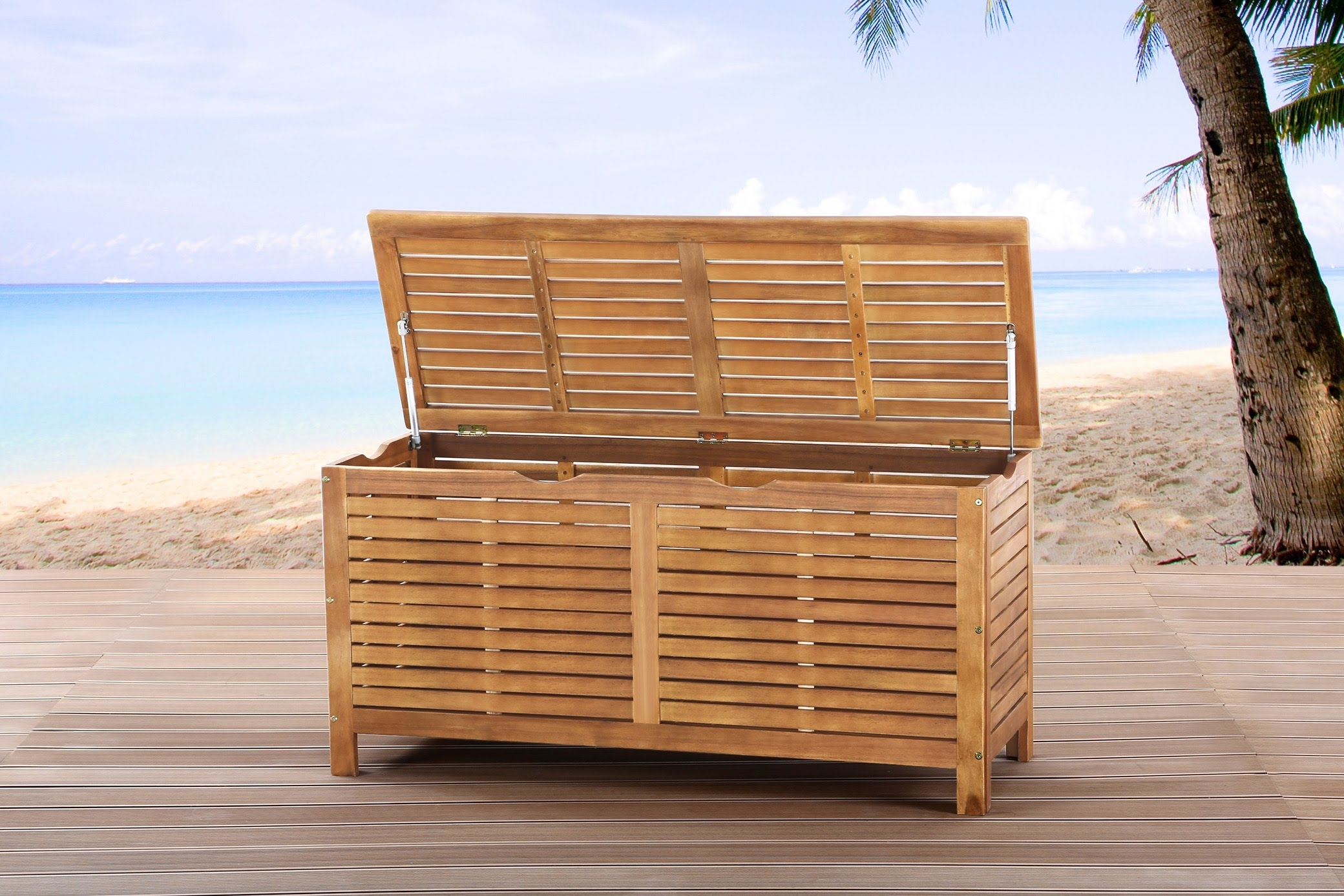 Image of: Beliani Garden Furniture Cushion Storage Box Wooden Riviera With Regard To Cushion Boxes Outdoor Furniture How To Buy Cushion Boxes Outdoor Furniture