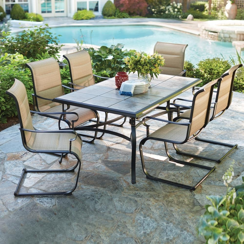 Belleville Patio Furniture Outdoors The Home Depot Regarding Commercial Outdoor Dining Furniture Great Commercial Outdoor Dining Furniture