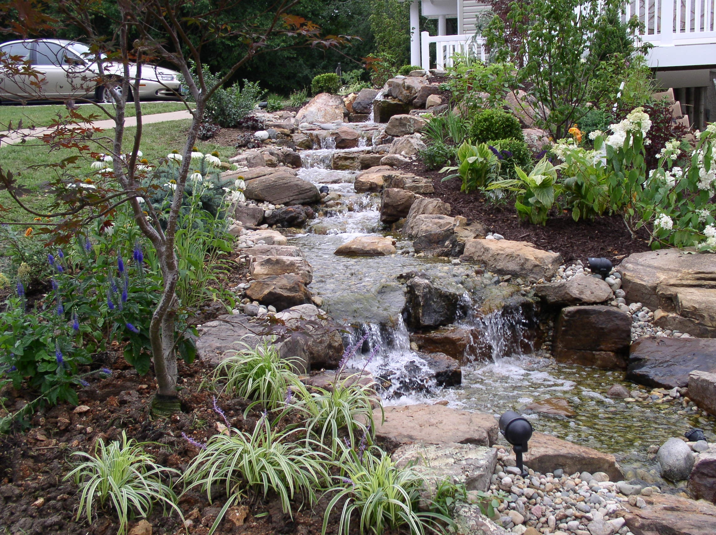 Image of: Best 25 Backyard Stream Ideas On Pinterest Garden Stream Pond Inside Drainage Ditch Landscaping Ideas Natural Drainage Ditch Landscaping Ideas