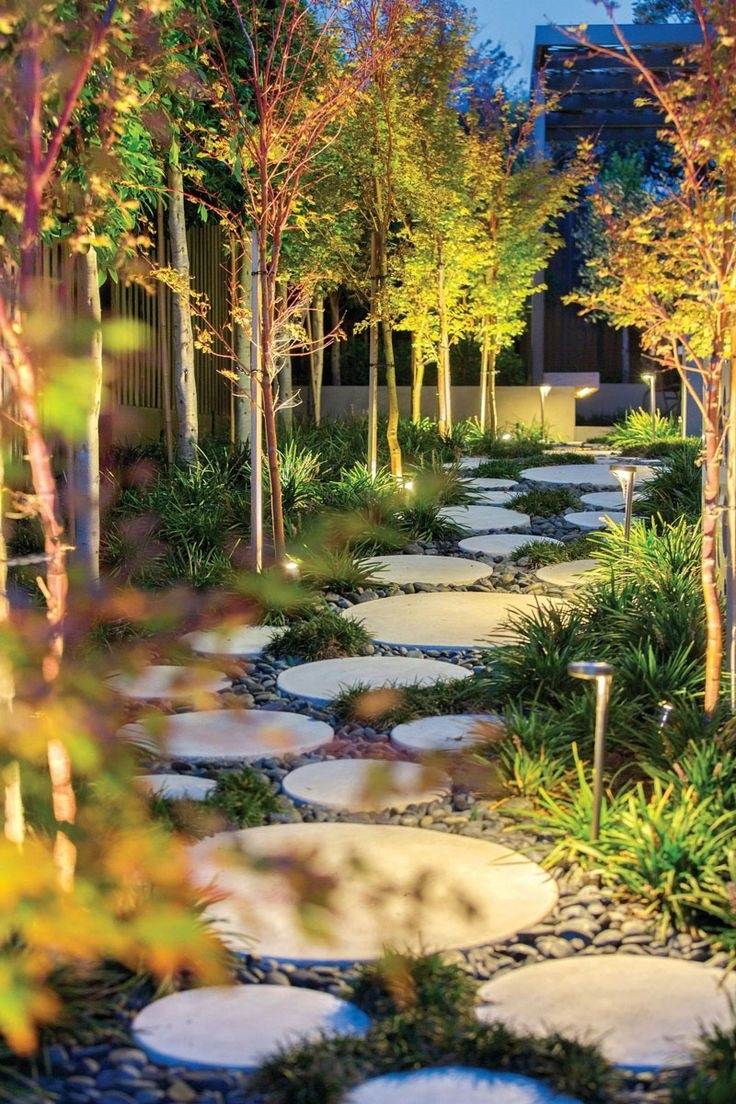 Image of: Best 25 Round Stepping Stones Ideas On Beauty Landscape Stepping Stones