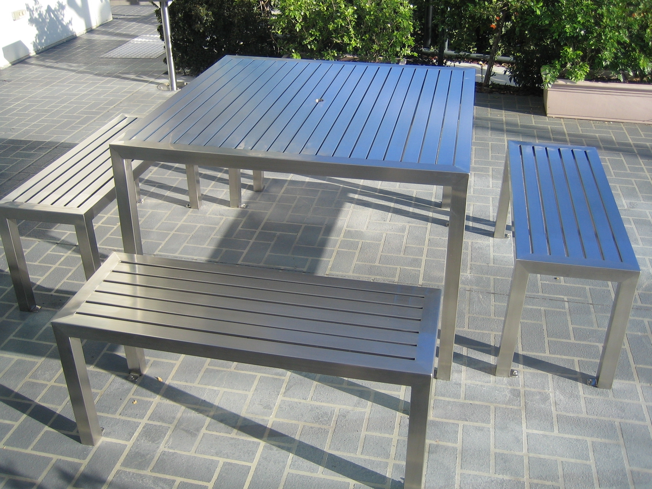 Image of: Blog Genix Steel Fabrication And Construction Throughout Outdoor Stainless Steel Furniture Great Outdoor Stainless Steel Furniture