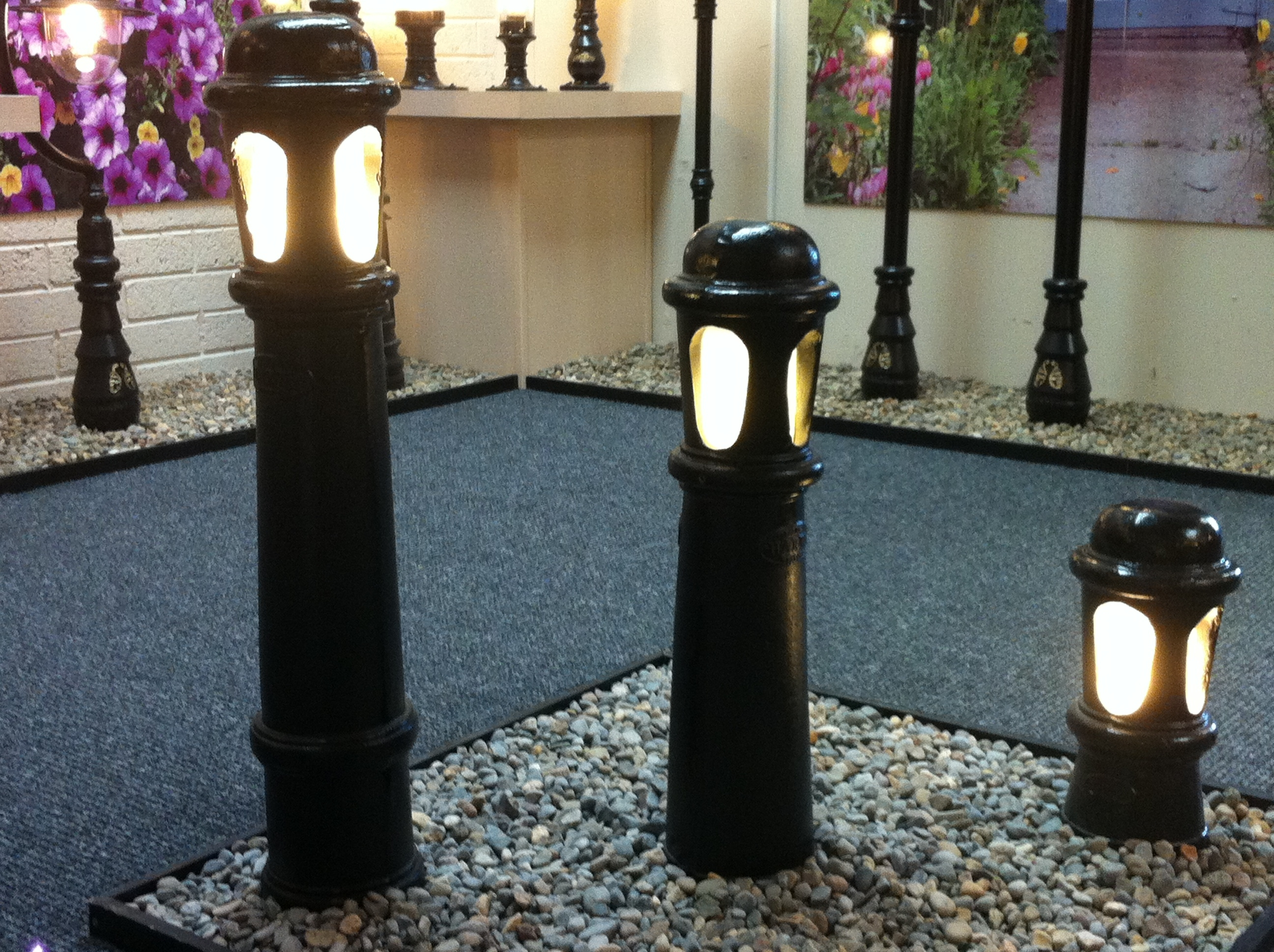 Image of: Iron Products Harte Outdoor Bollard Lighting Style