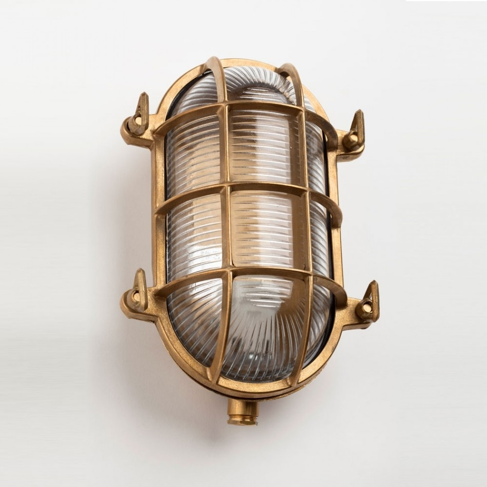Image of: Brass Bulkhead Lights For Both Indoor And Outdoor Intended For Brass Outdoor Lights Brass Outdoor Lights Beautify Exterior