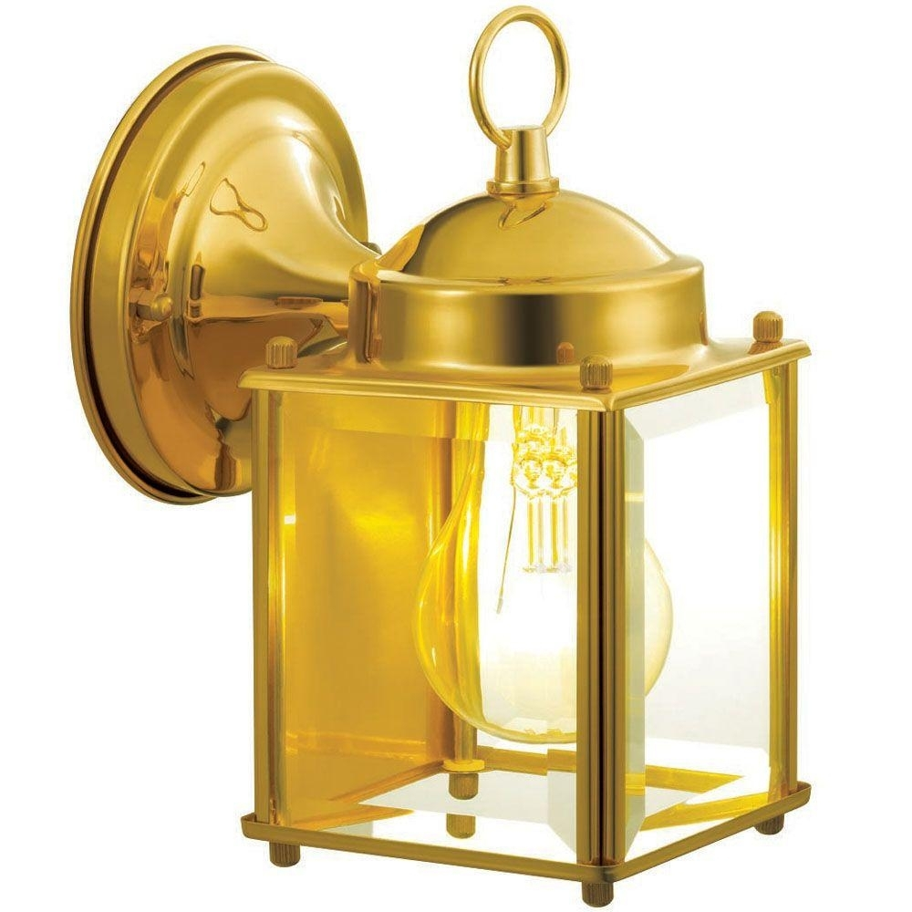 Image of: Brass Gold Outdoor Wall Mounted Lighting Outdoor Lighting In Brass Outdoor Lights Brass Outdoor Lights Beautify Exterior