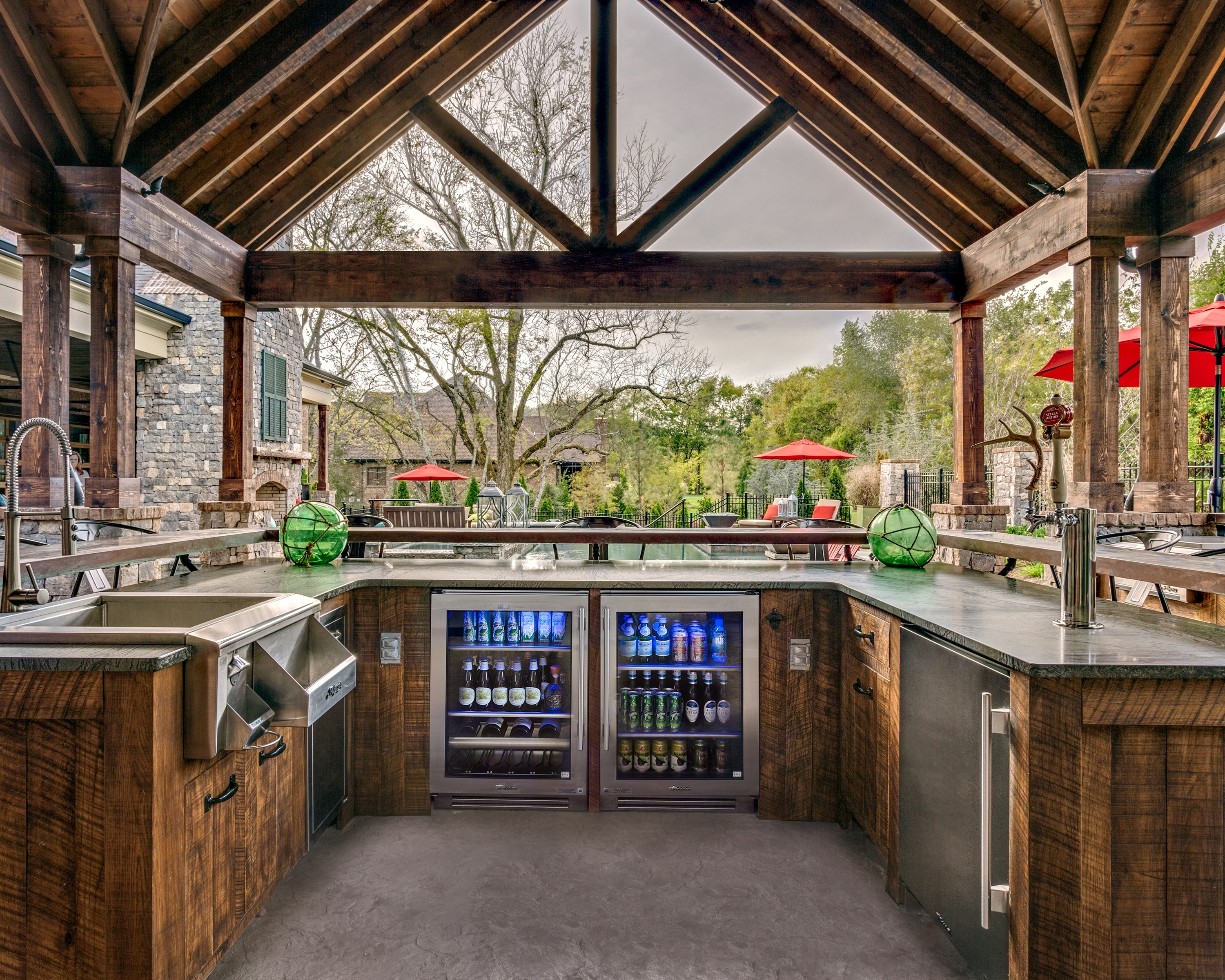 Image of: Brentwood Outdoor Entertaining With True Residential 24 Beverage With Regard To Outdoor Kitchen Beverage Center Good Outdoor Kitchen Beverage Center