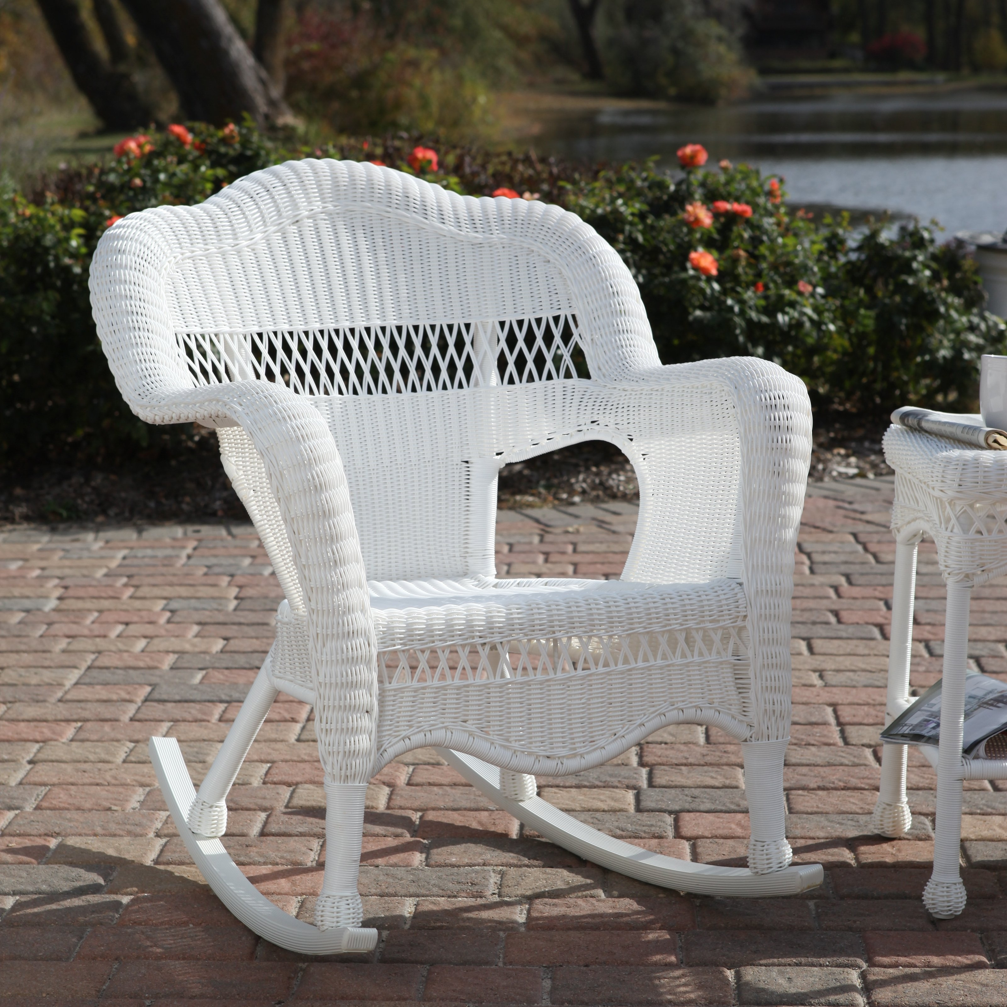 Chair Furniture Summer Decors Infused With White Wicker Furniture In Outdoor Rocking Chairs With Cushions Good Outdoor Rocking Chairs With Cushions