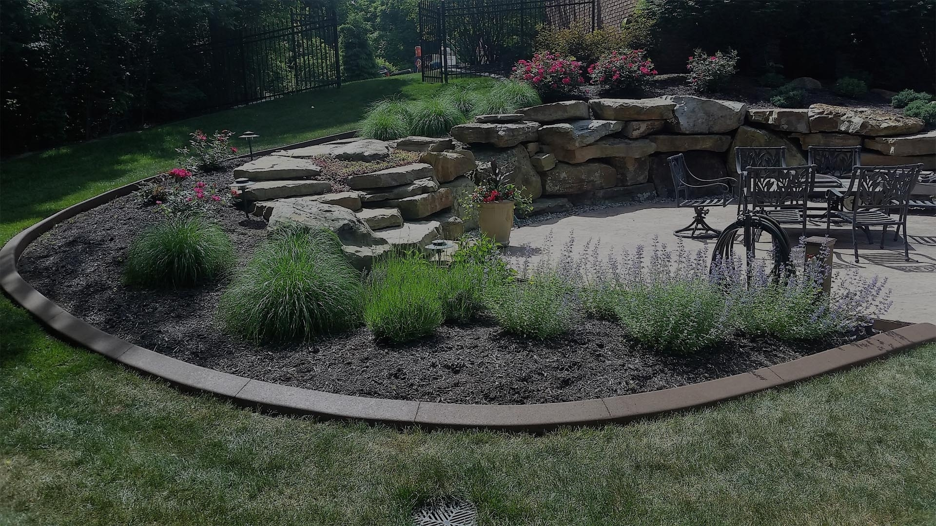 Image of: Concrete Edging Concrete Curbing In Fort Wayne Indiana 260 438 8018 Regarding Landscape Concrete Edging Installation Landscape Concrete Edging Installation