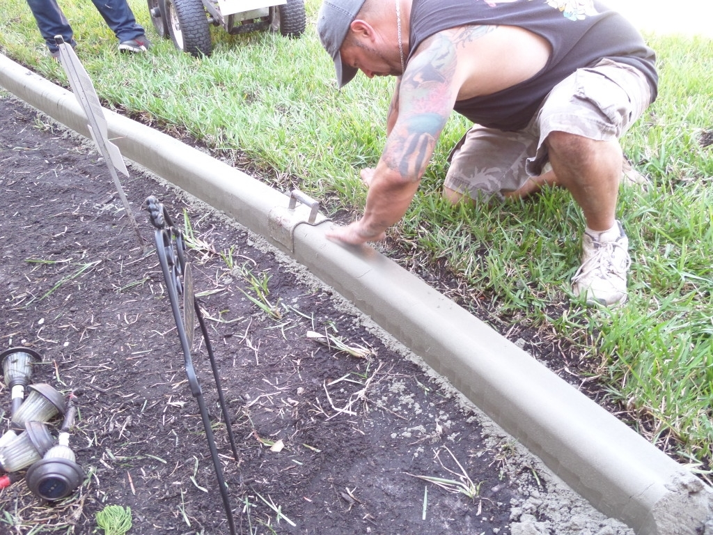 Image of: Concrete Landscape Edging Be My Guest With Denise Within Diy Concrete Landscape Edging Diy Concrete Landscape Edging
