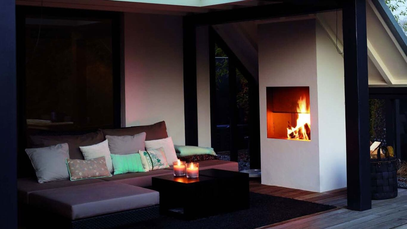 Image of: Contemporary Fireplaces I Designer Fireplaces I Luxury Fireplaces With Regard To Fake Outdoor Fireplace Build Fake Outdoor Fireplace