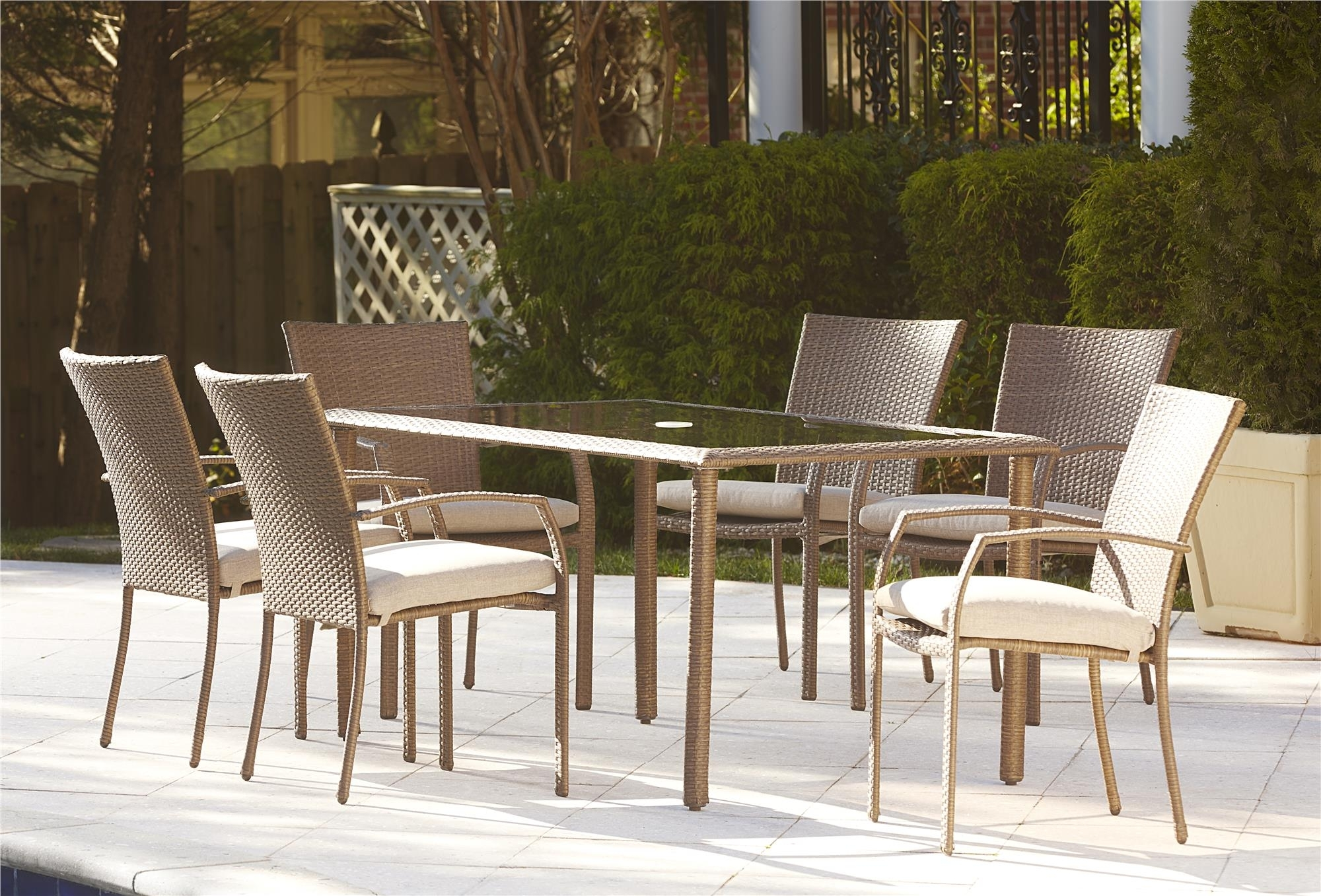 Image of: Cosco Outdoor Products Cosco Outdoor 7 Piece Lakewood Ranch For Commercial Outdoor Dining Furniture Great Commercial Outdoor Dining Furniture