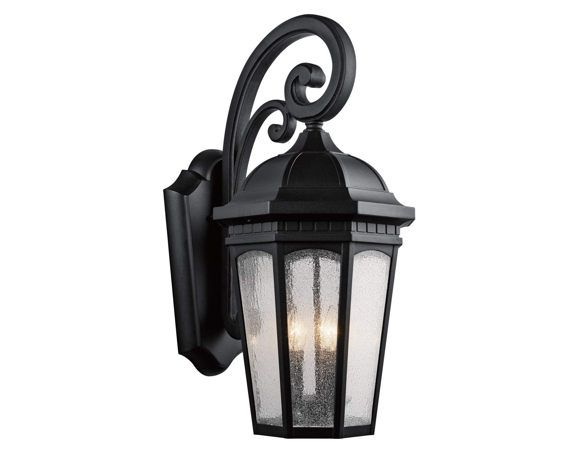 Image of: Courtyard 3 Light Kichler Outdoor Wall Lighting