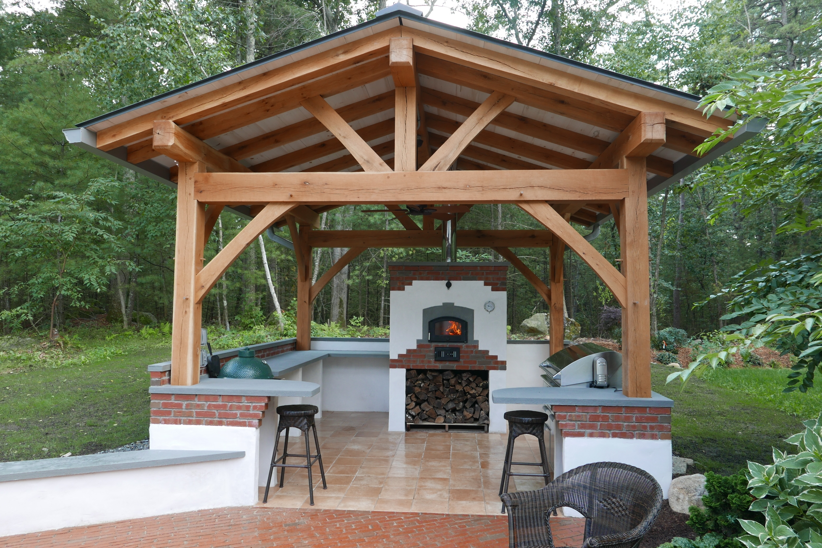 Image of: Custom Outdoor Kitchen Hearth Timber Pertaining To Outdoor Kitchen Roofs Outdoor Kitchen Roofs Painting
