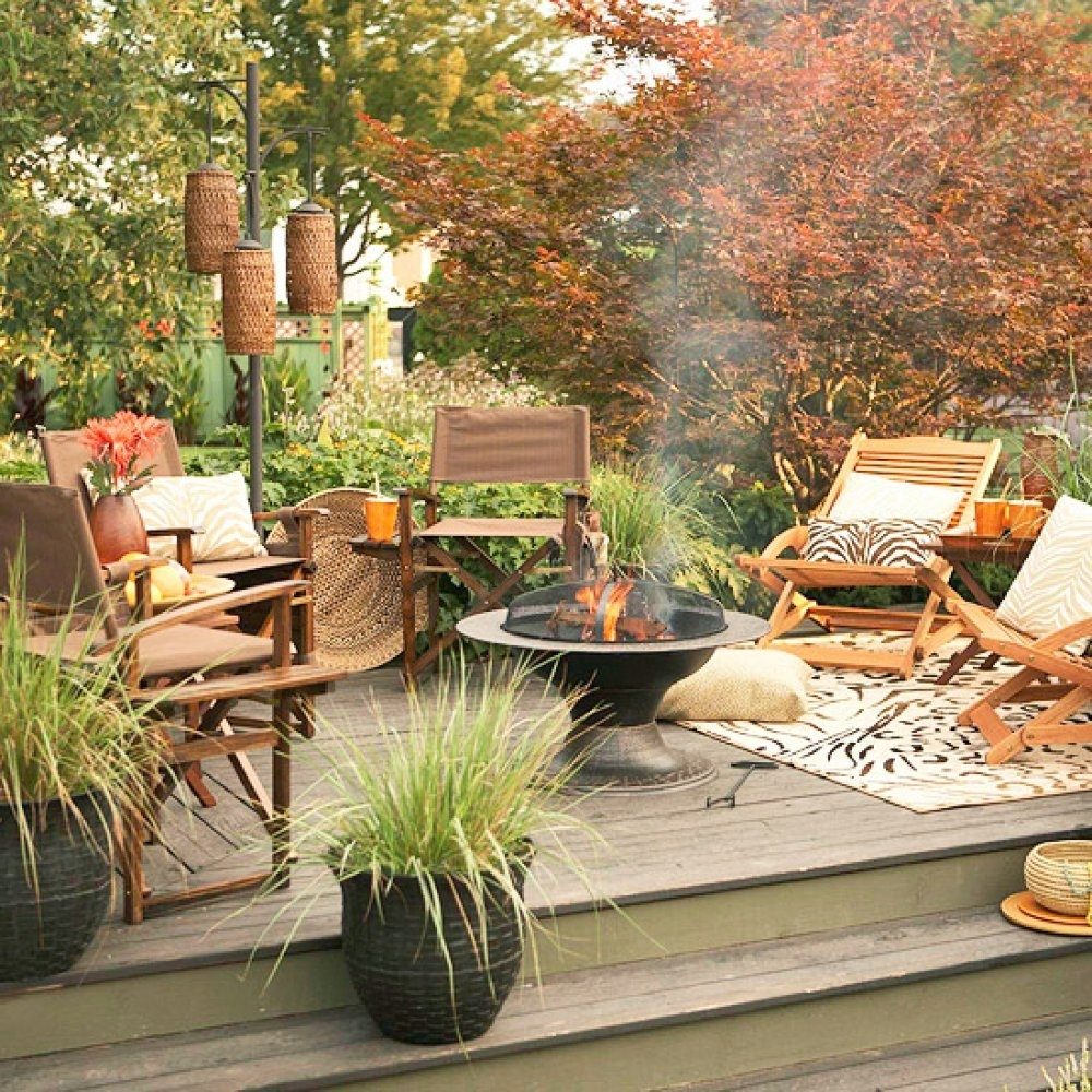 Image of: Deck Landscaping The Fire Pit Is The Focal Point Of Pertaining To Focal Point Landscaping Ideas Focal Point Landscaping