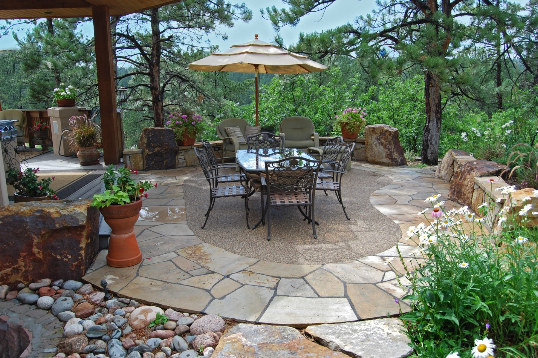 Image of: Denver Stone Construction Hardscapes Landscape Connection In Hardscape Landscaping Hardscape Landscaping A Hill