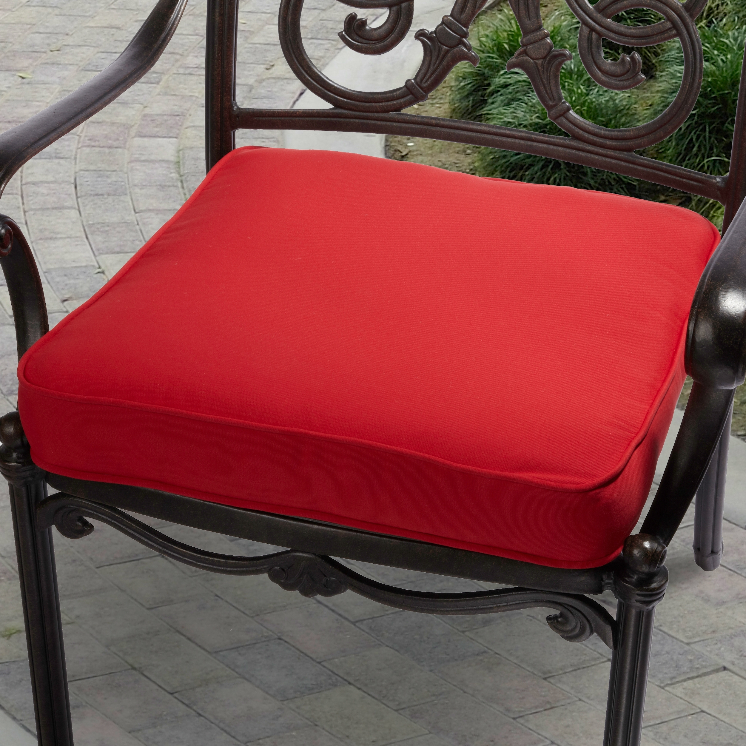 Dining Room Remarkable Garden Exterior Decor With Comfortable For Red Outdoor Seat Cushions Red Outdoor Seat Cushions Set For Patio