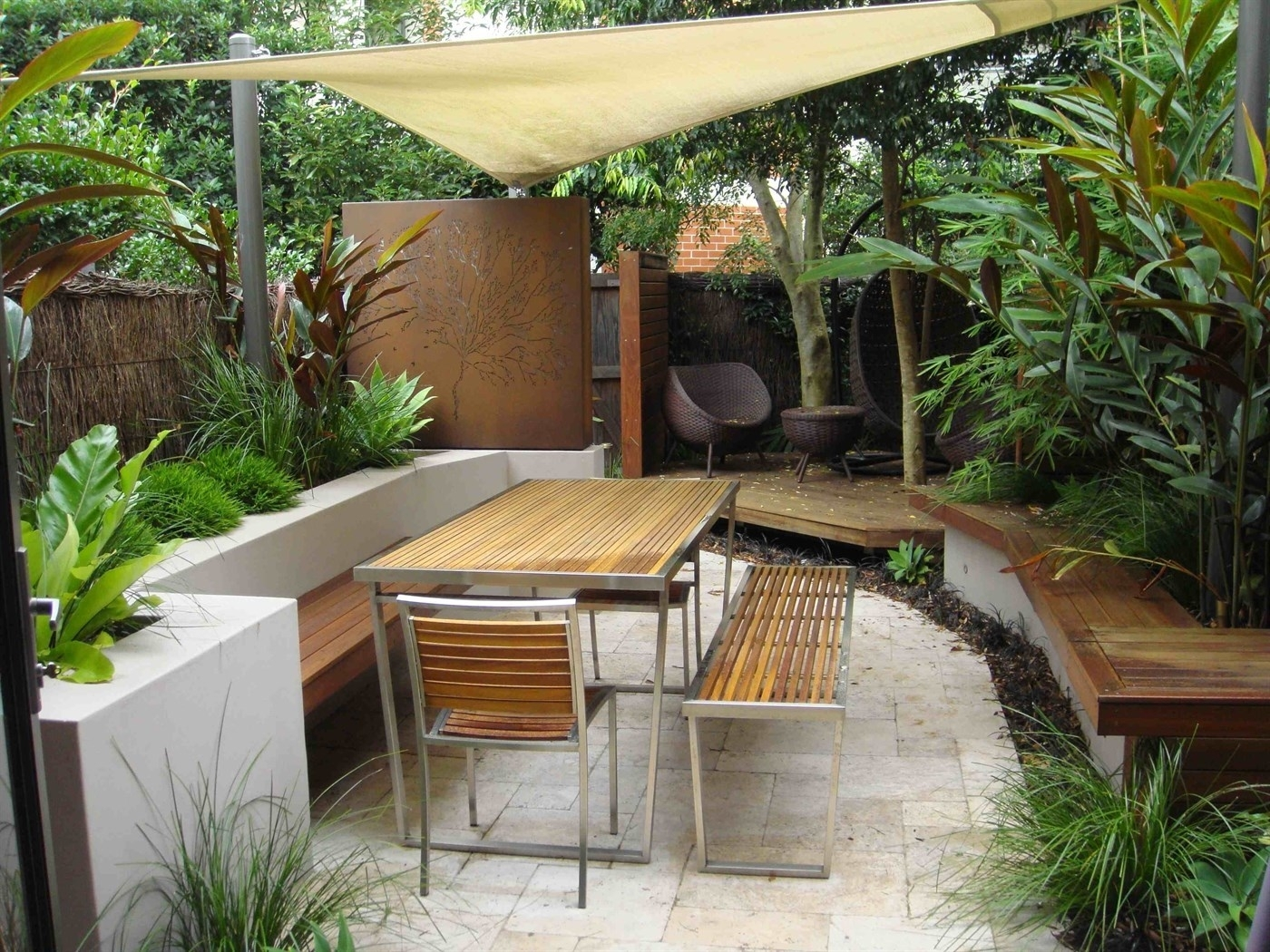 Image of: Dirty Girl Designs Residential Landscape Design Garden Design Regarding Courtyard Landscaping Ideas Beautiful Courtyard Landscaping Ideas
