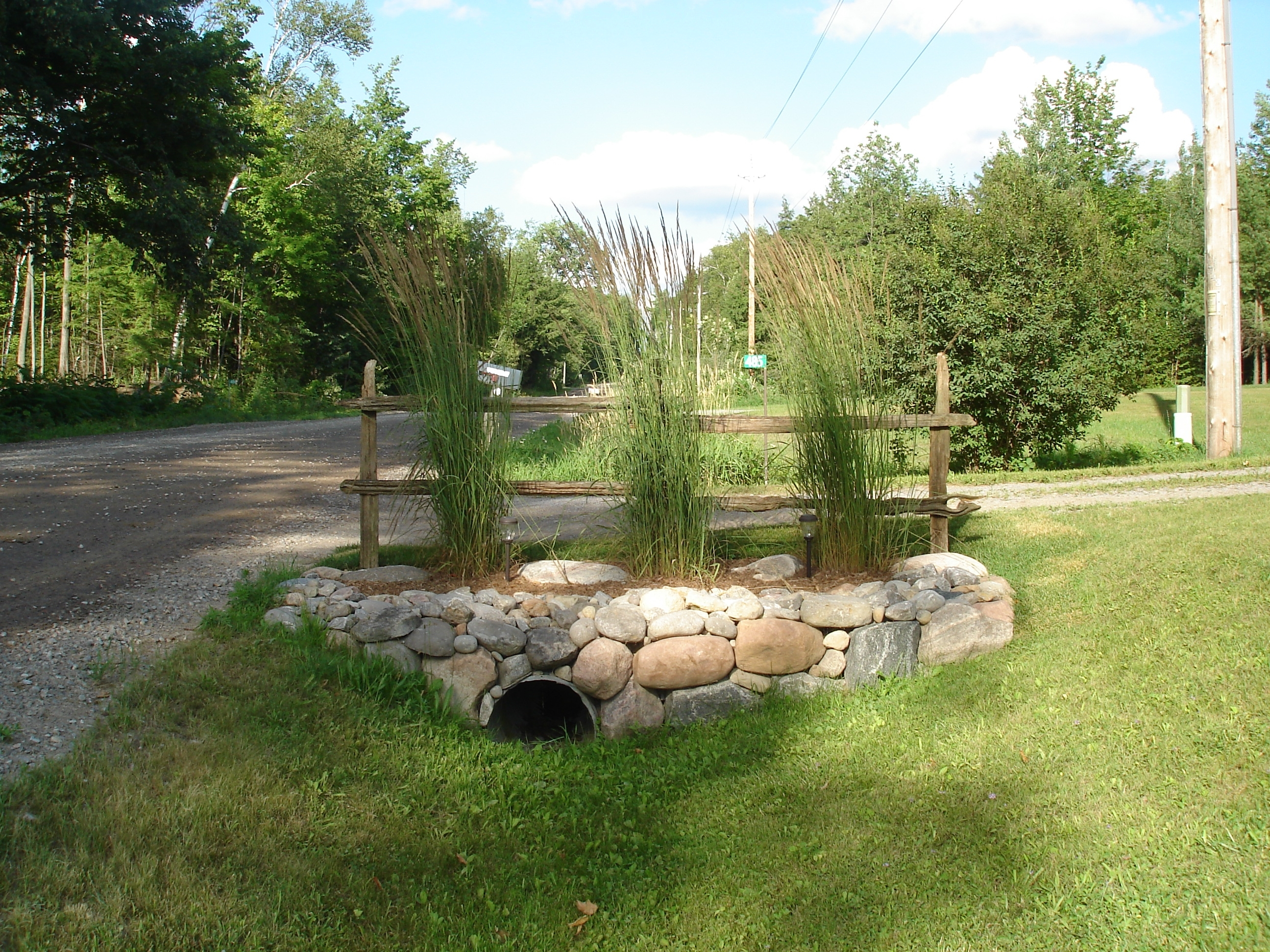 Image of: Drainage Pipe Driveway Landscaping Having A Culvert Or Drainage In Drainage Ditch Landscaping Ideas Natural Drainage Ditch Landscaping Ideas
