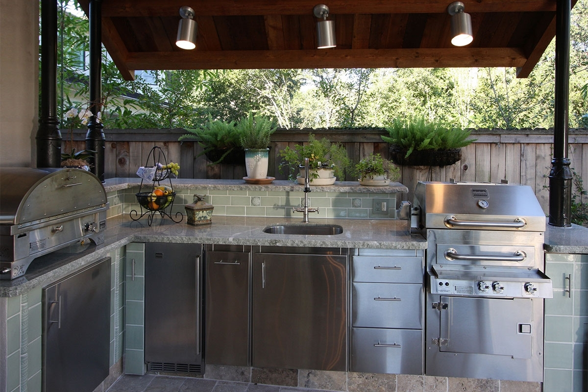 Image of: Dreadful Photograph Outdoor Kitchen Sink Stainless Steel Intended For Outdoor Kitchen Beverage Center Good Outdoor Kitchen Beverage Center