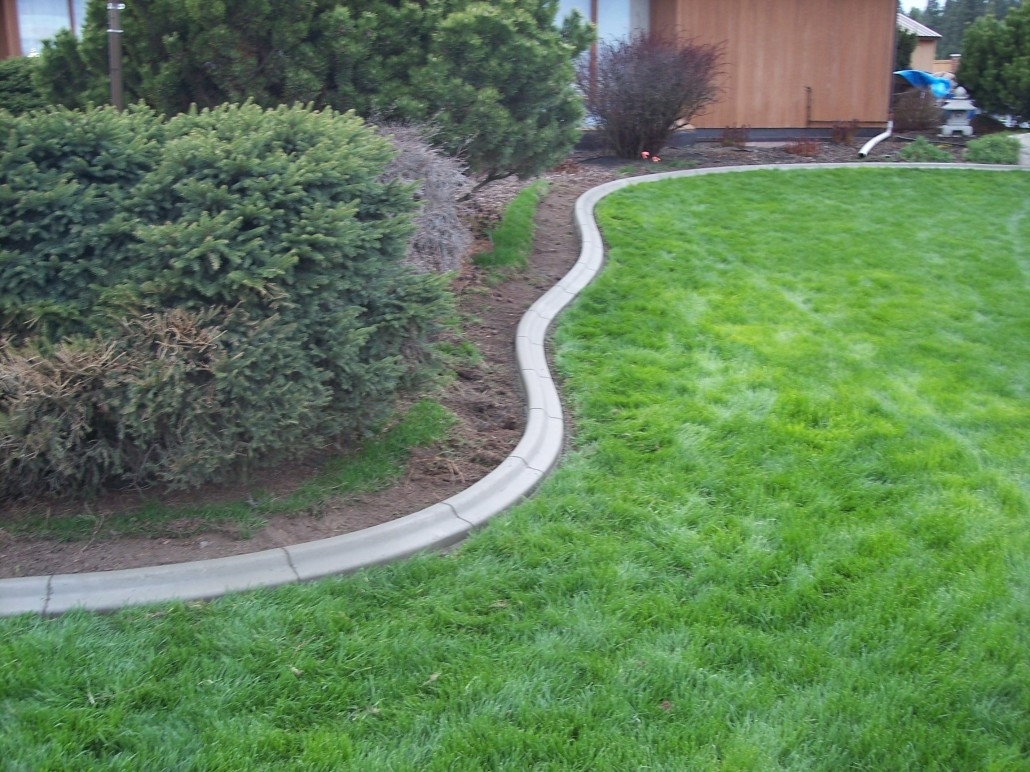 Image of: Dundee Concrete Landscaping Curbing In Landscape Concrete Edging Installation Landscape Concrete Edging Installation