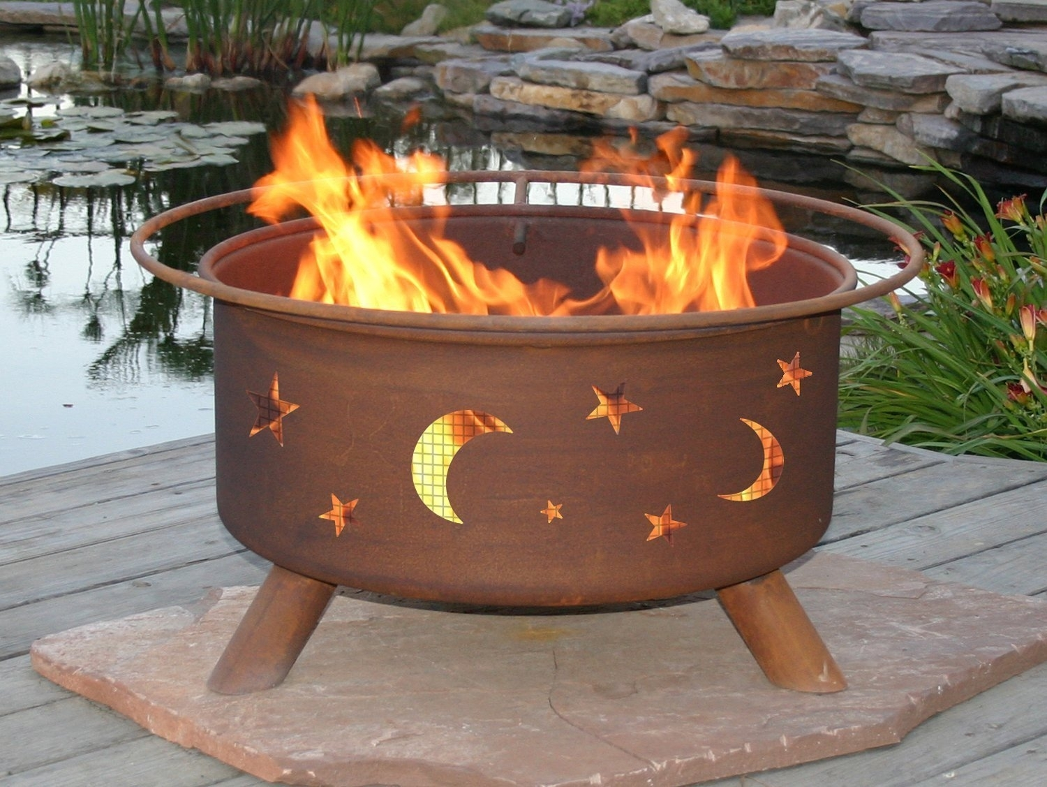 Image of: Exterior Design Unique Dark Landmann Crossfire Fire Pit For Regarding Unique Outdoor Fireplaces Grill Diy Unique Outdoor Fireplaces Grill