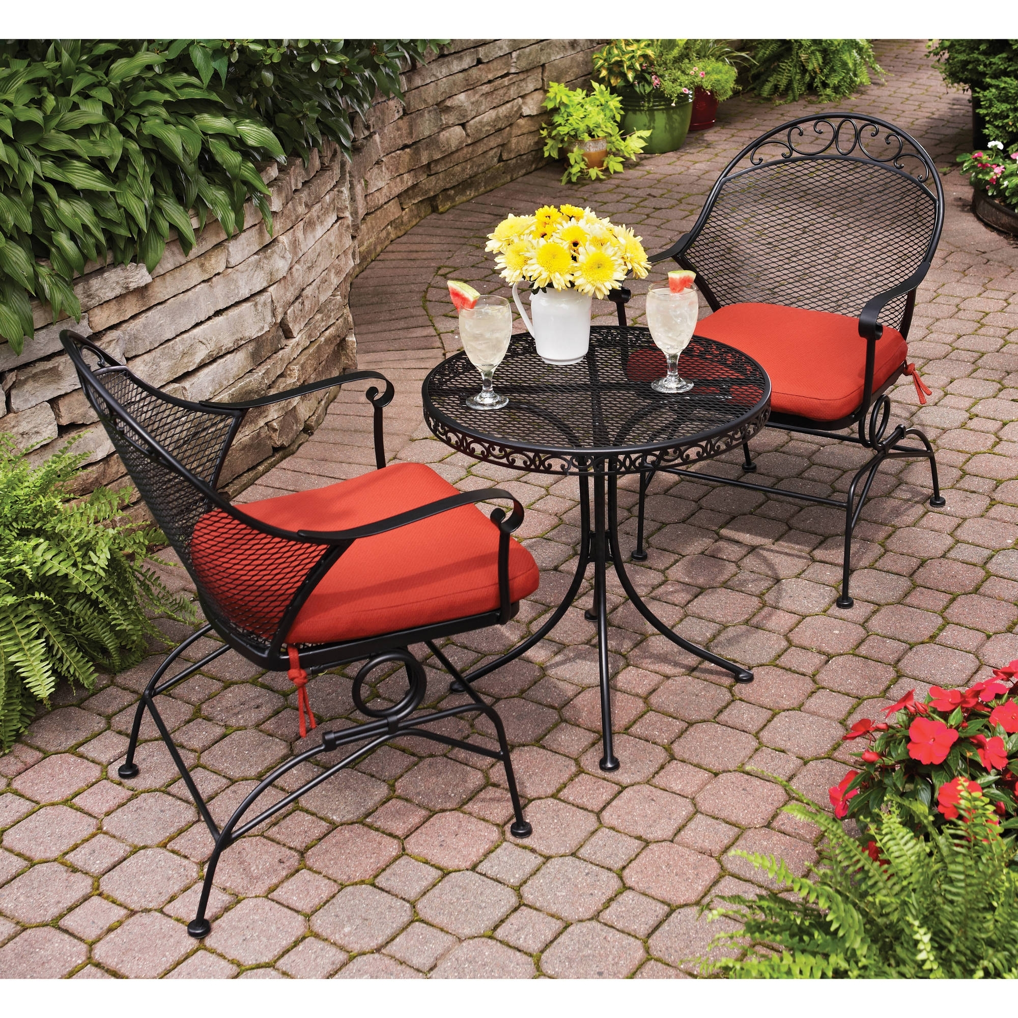 Image of: Exterior Outdoor Seat Cushions Clearance And Walmart Patio Cushions Regarding Red Outdoor Seat Cushions Red Outdoor Seat Cushions Set For Patio