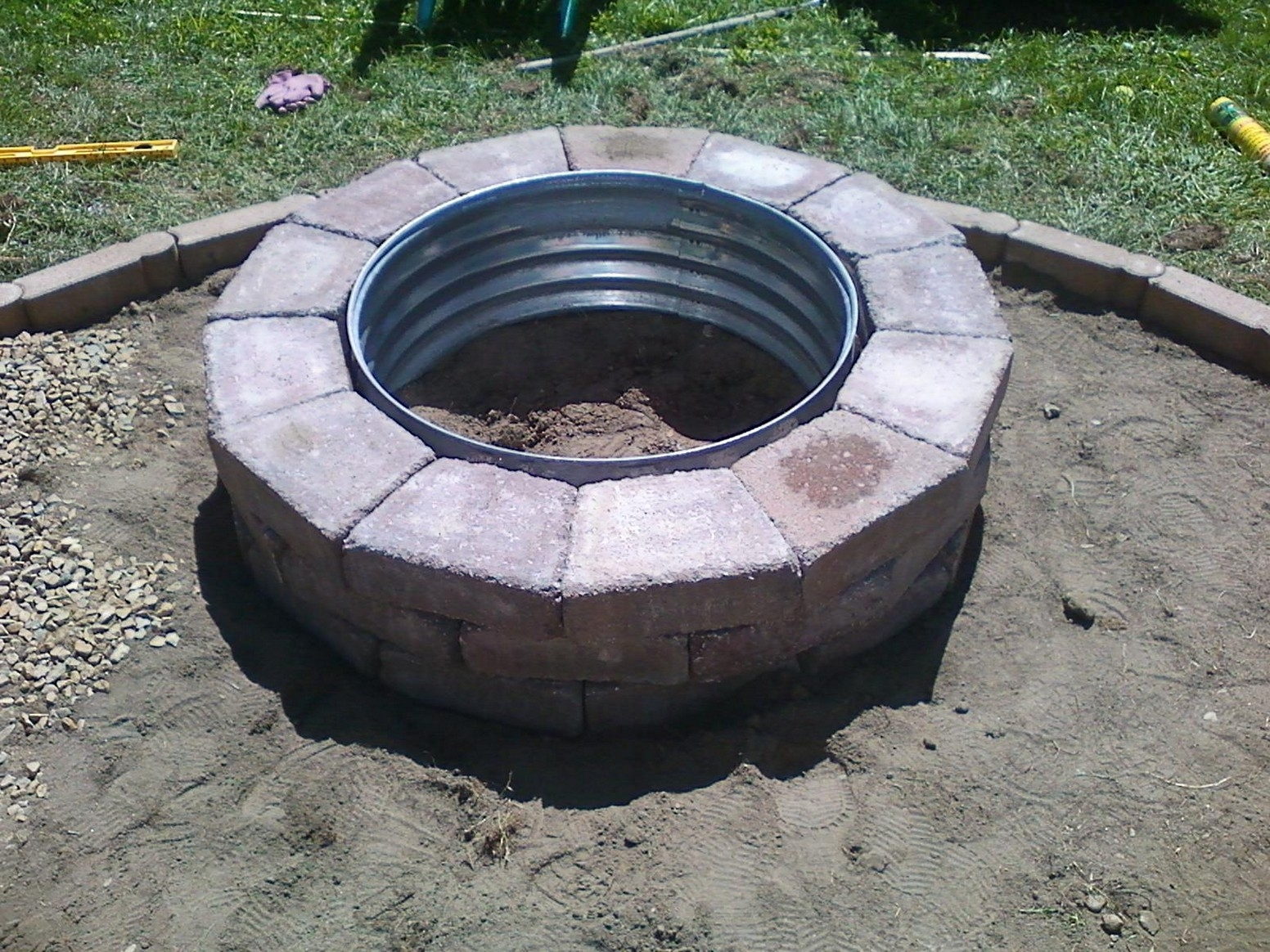 Image of: Fantastic Homemade Brick Fire Pit Garden Landscape Inside Landscape Fire Pits Fireplaces Landscape Fire Pits