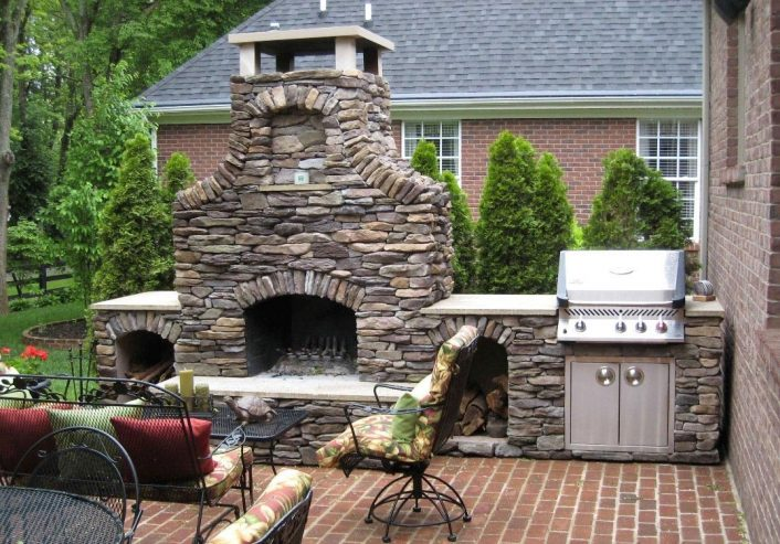 Faux Brick Outdoor Fireplace The Great Combination For The With Masonry Outdoor Fireplace The Right Options For Masonry Outdoor Fireplace