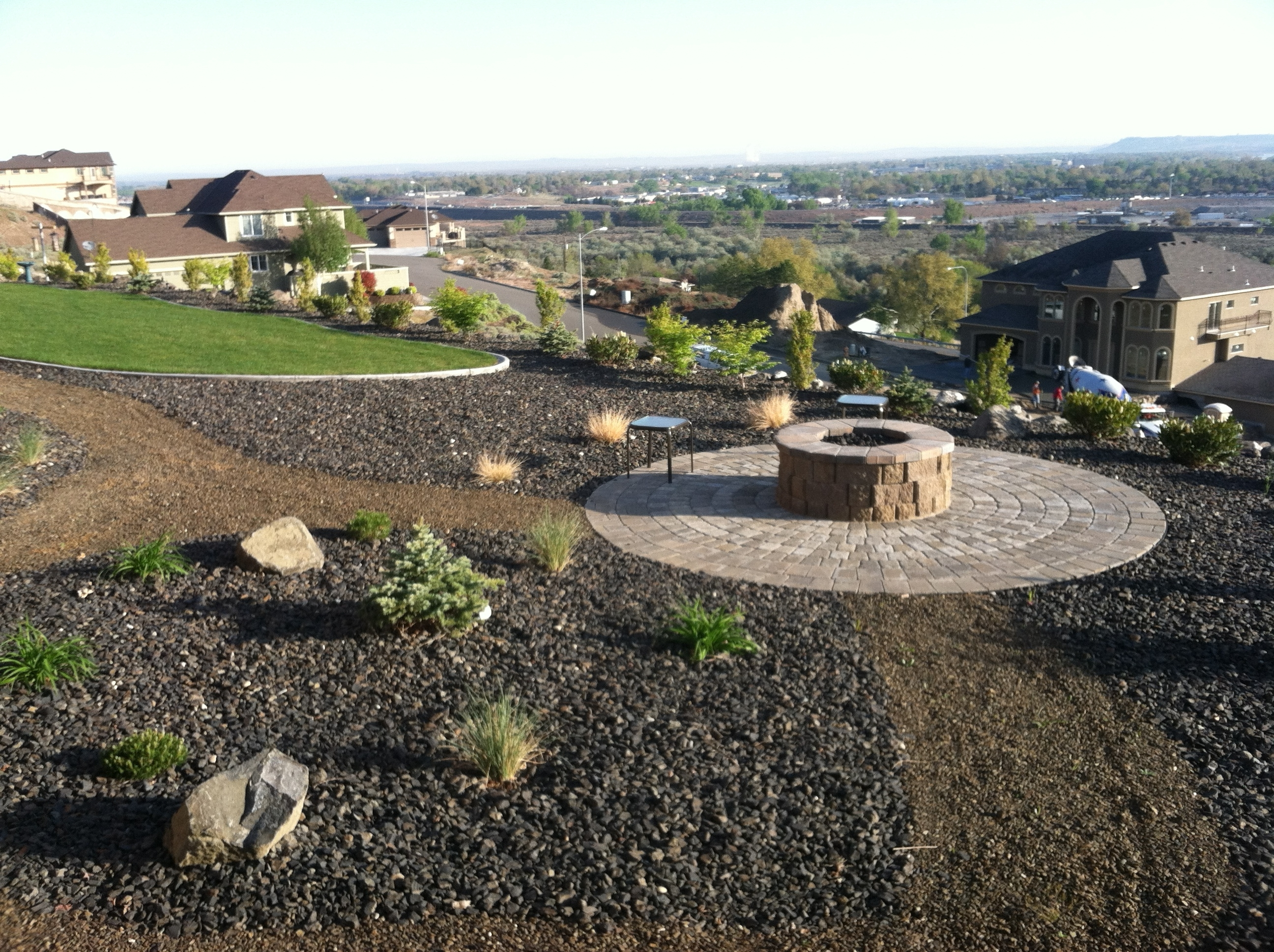 Image of: Fire Pits Musser Landscaping Throughout Landscape Fire Pits Fireplaces Landscape Fire Pits