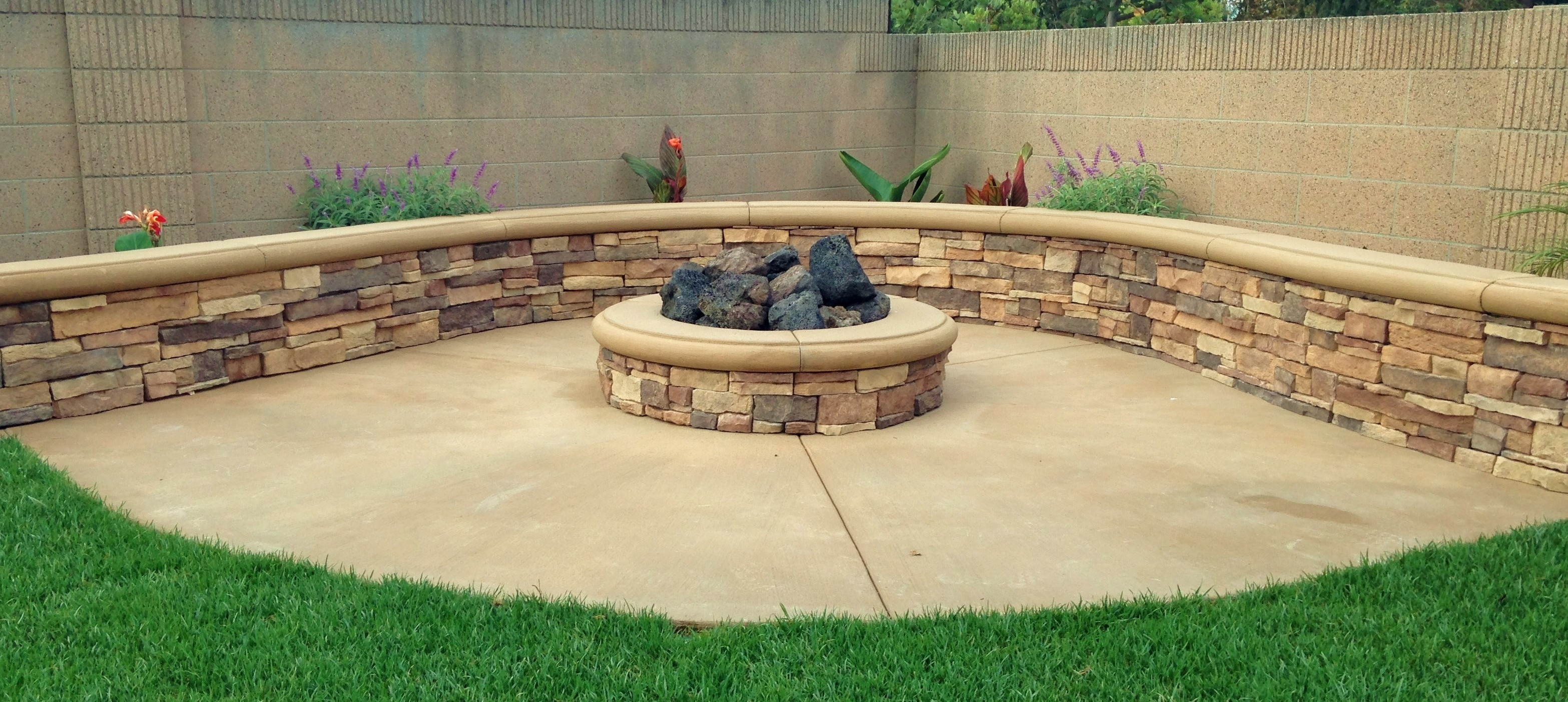 Image of: Fire Pits Orange County Patio Areas Tru Landscape Services Intended For Landscape Fire Pits Fireplaces Landscape Fire Pits