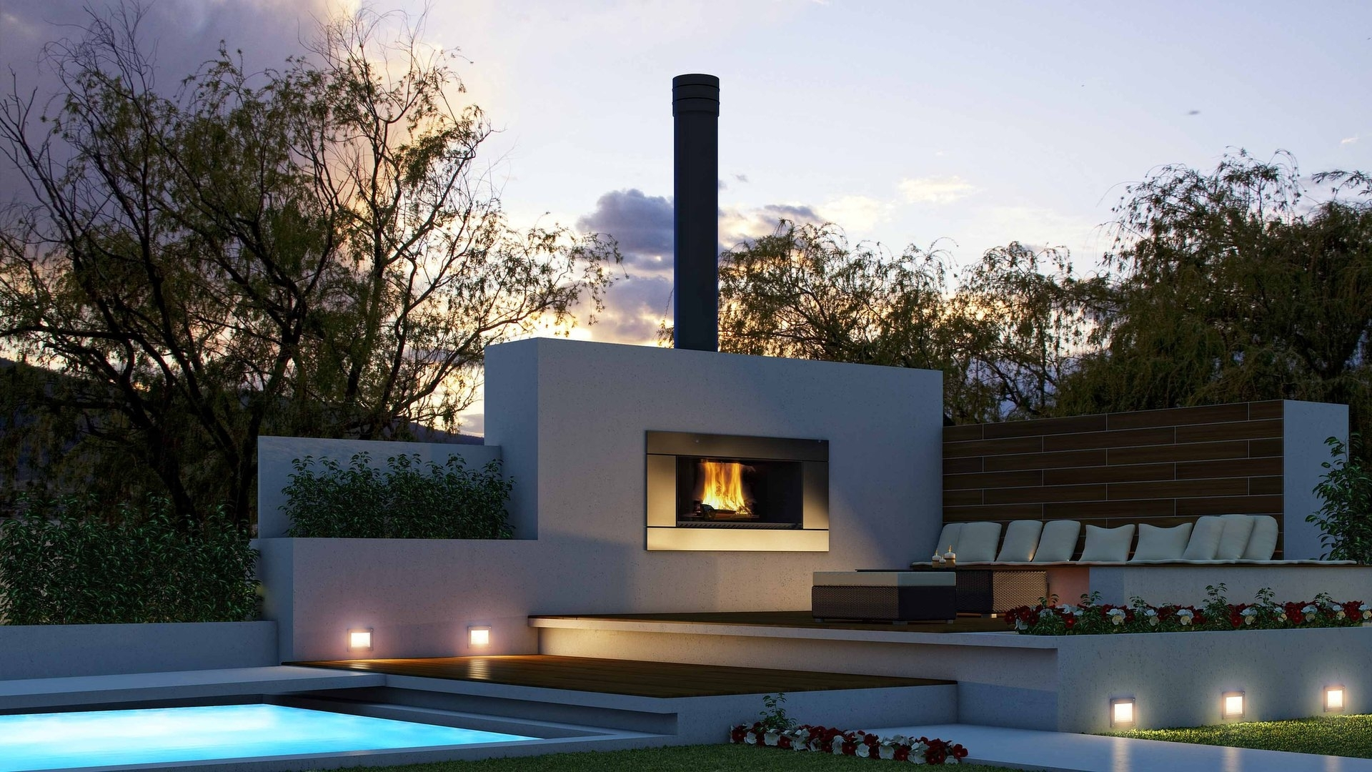 Image of: Fireplace Outdoor Modern Fireplace Design Contemporary Outdoor Pertaining To Modern Fireplace Outdoor Modern Fireplace Outdoor Installation