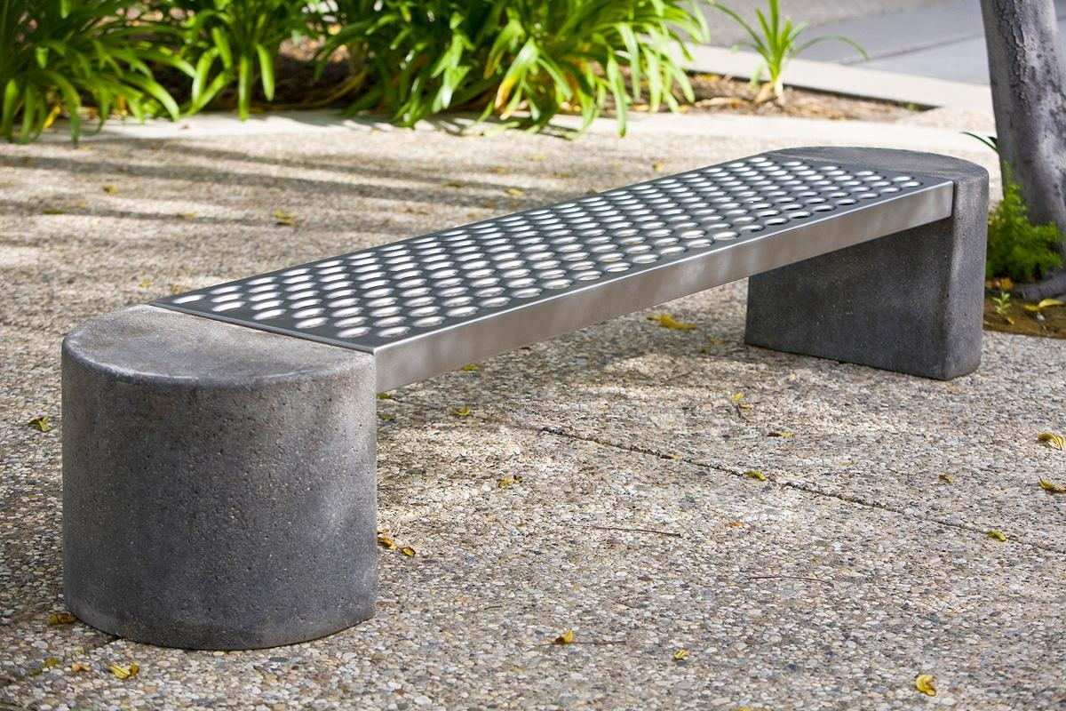 Image of: Foundation Bench Outdoor Formssurfaces For Outdoor Stainless Steel Furniture Great Outdoor Stainless Steel Furniture