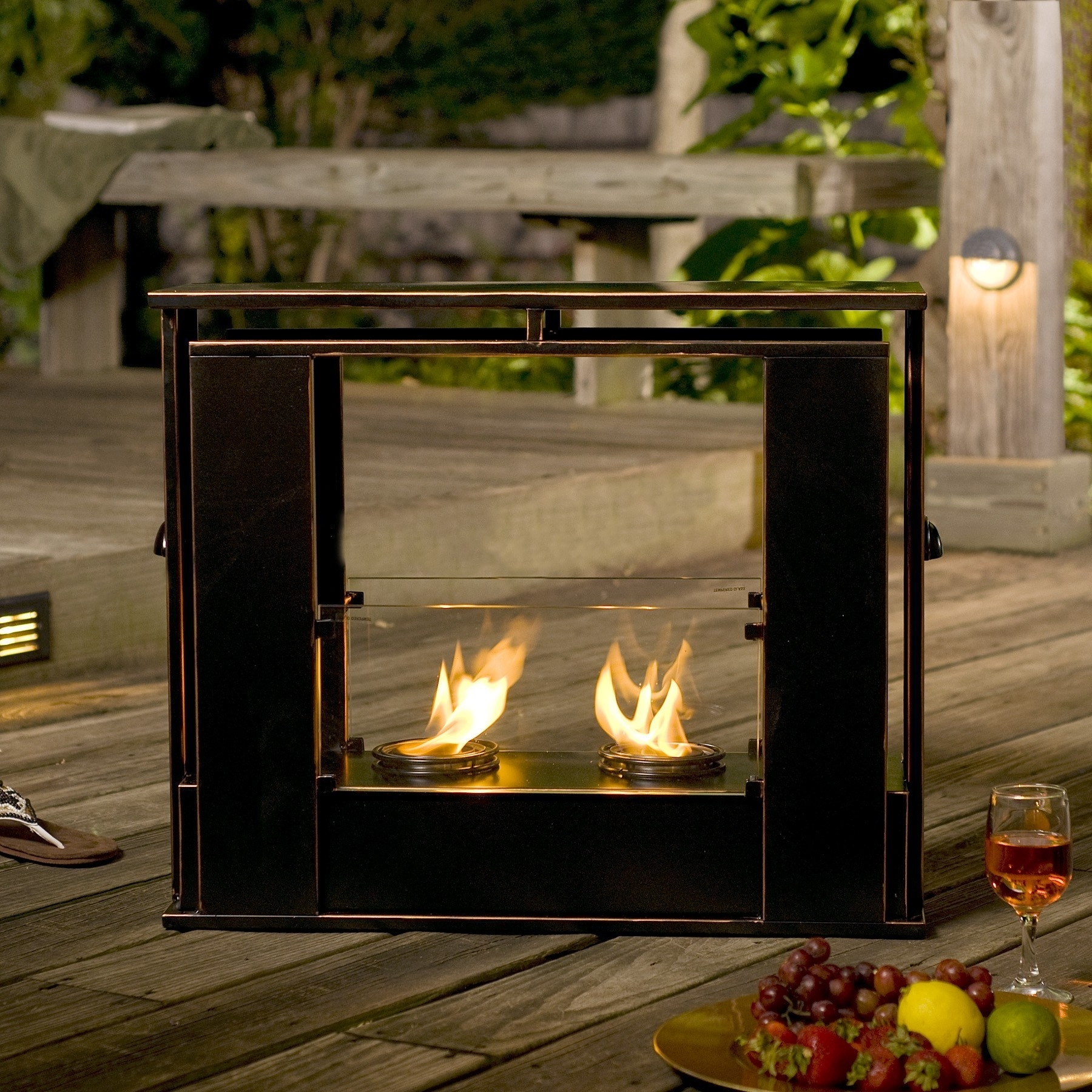 Image of: Fresh Portable Indoor Fireplaces 10685 Pertaining To Modern Fireplace Outdoor Modern Fireplace Outdoor Installation