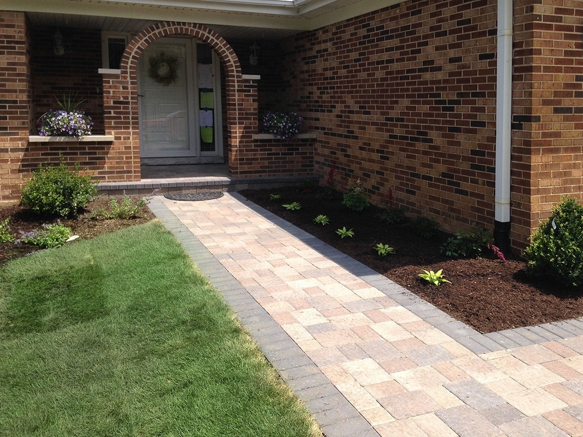 Image of: Front Paver Entrance Remodel In Arlington Heights Landscaping And In Landscaping Pavers Easy Steps To Install Landscaping Pavers