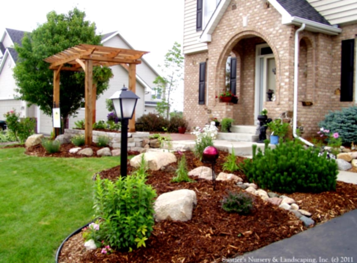 Image of: Front Yard Landscaping Designs On A Budget For Contemporary Home Throughout Front Yard Landscaping Plans Smart Front Yard Landscaping Plans