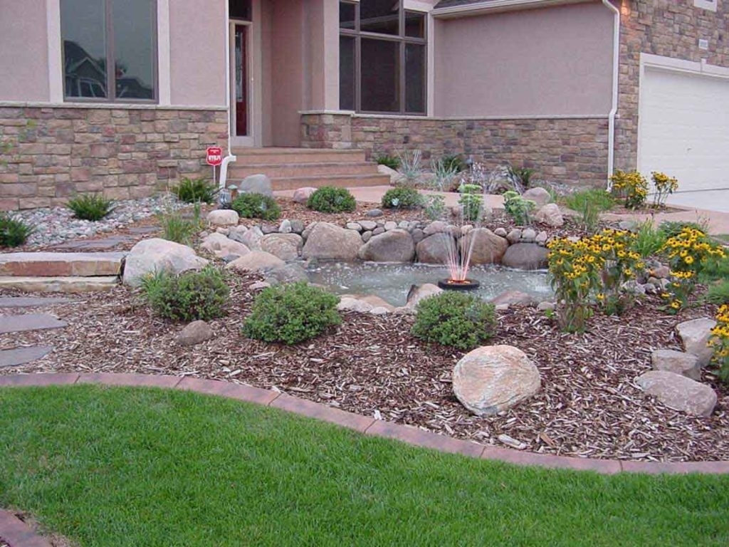 Image of: Front Yard Landscaping Ideas With Rocks Hdrgermanyphotos Regarding Front Yard Landscaping With Rocks Create Front Yard Landscaping With Rocks