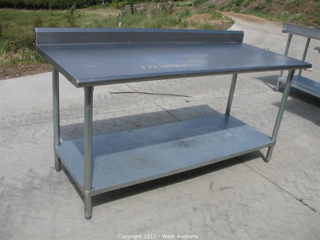 Image of: Furniture Commercial Prep Tables Stainless Steel Butcher Block For Outdoor Kitchen Work Table Outdoor Kitchen Work Table Ideas