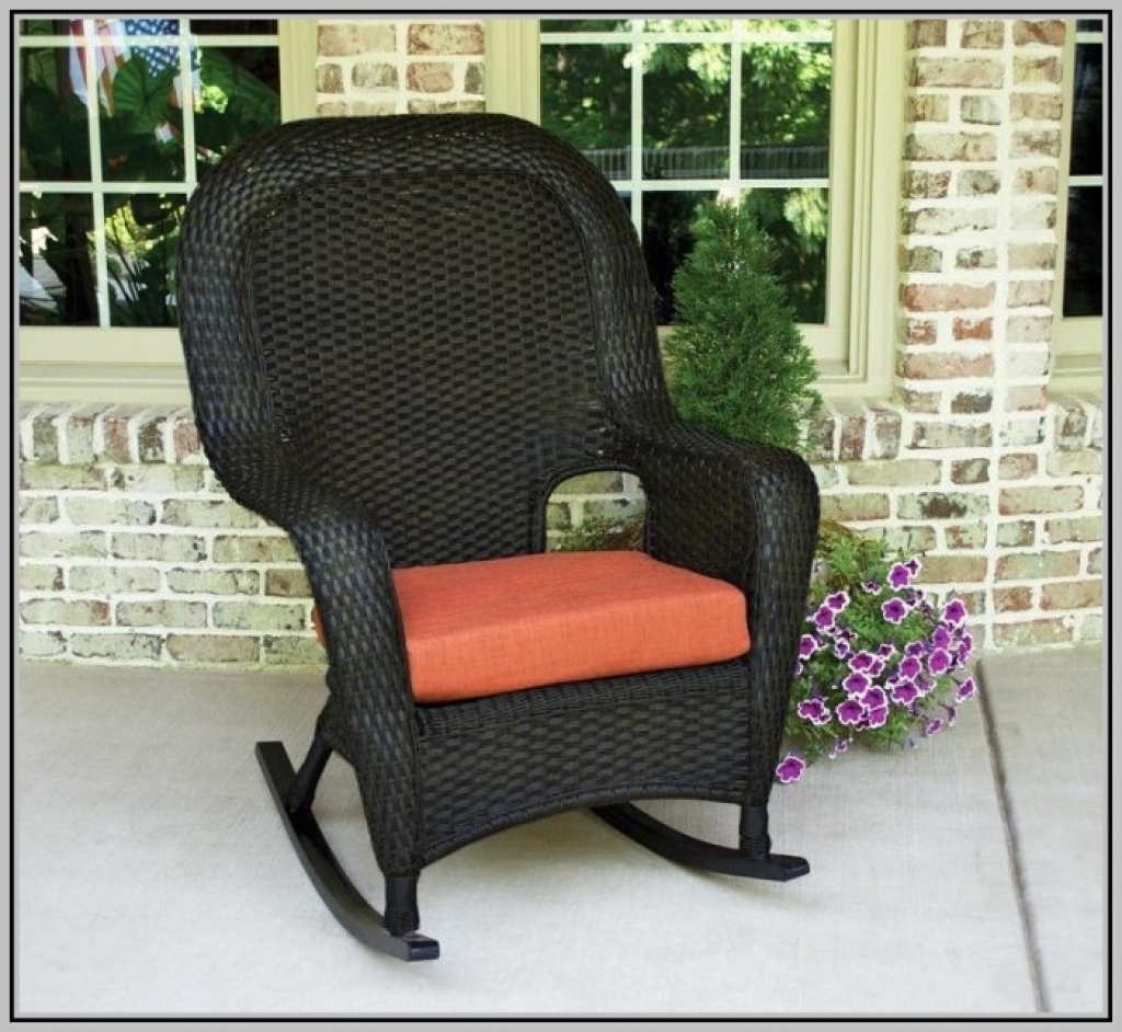 Furniture Interesting Wicker Chair Cushions For Inspiring Outdoor Regarding Outdoor Rocking Chairs With Cushions Good Outdoor Rocking Chairs With Cushions