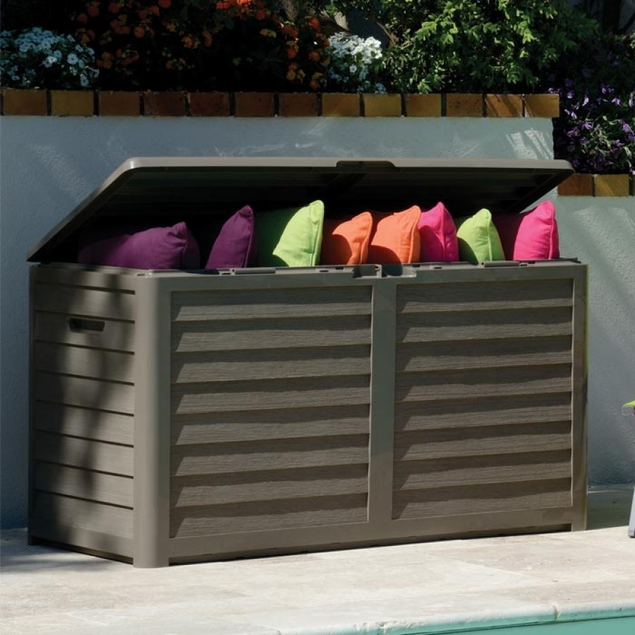 Image of: Furniture Outdoor Cushion Storage Box Center For Devinity Outdoor Throughout Waterproof Outdoor Cushion Storage Bo Waterproof Outdoor Cushion Storage Box Idea