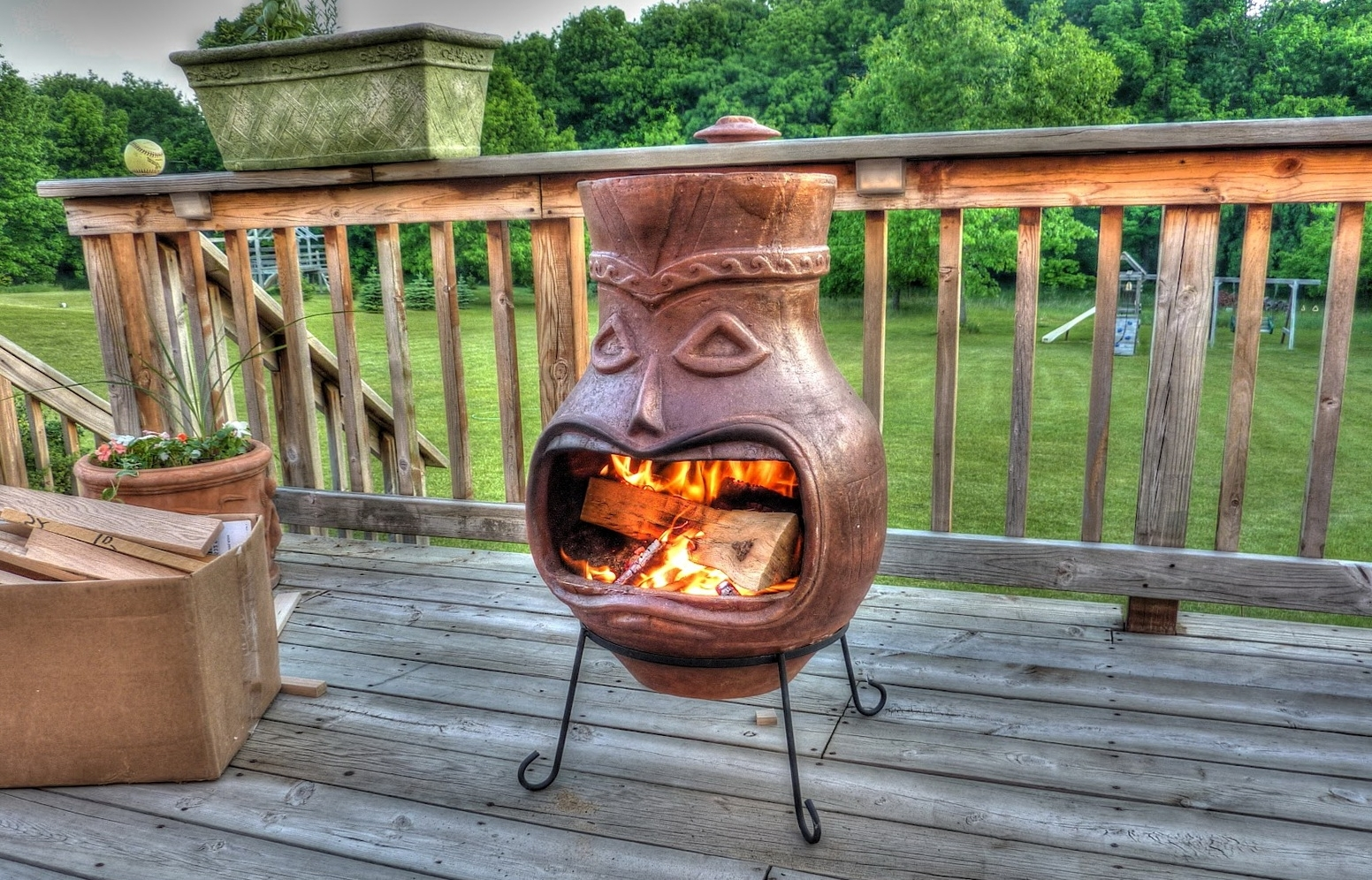 Image of: Gas Chiminea Outdoor Fireplace Home Design Ideas Inside Large Clay Chiminea Outdoor Fireplace