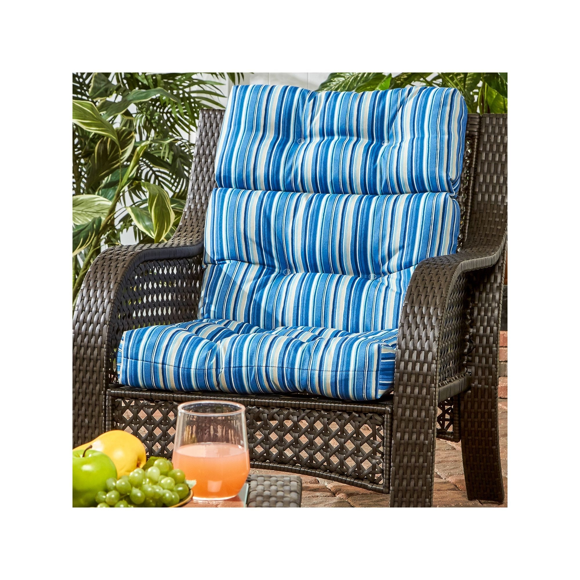 Image of: Greendale Home Fashions Outdoor High Back Chair Cushion Red Within High Back Chair Cushions Outdoor Furniture How To Clean High Back Chair Cushions Outdoor Furniture