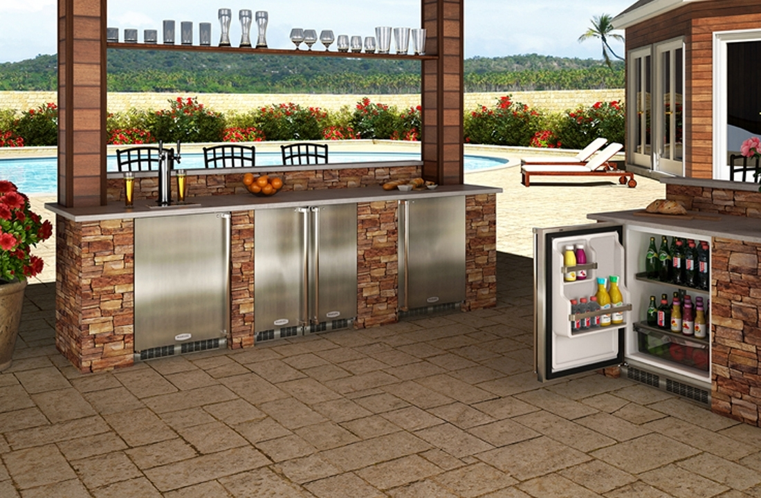 Image of: Guy Fieri Outdoor Kitchen Guy Fieri Outdoor Kitchen Pictures Throughout Outdoor Kitchen Beverage Center Good Outdoor Kitchen Beverage Center
