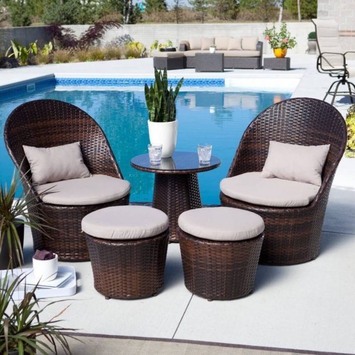 Home Decoration Red Stripped Seat Cushion For Outdoor Wicker Pertaining To Outdoor Wicker Seat Cushions Very Elegant Outdoor Wicker Seat Cushions