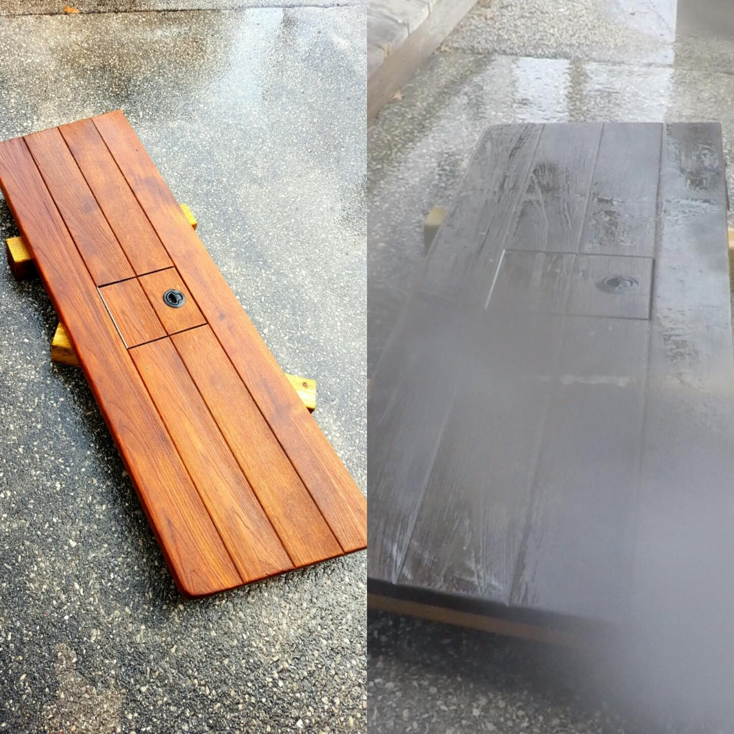 Image of: How To Clean Teak Wood Swim Platform With Pressure Washer And No In Cleaning Outdoor Teak Furniture Ideal Cleaning Outdoor Teak Furniture