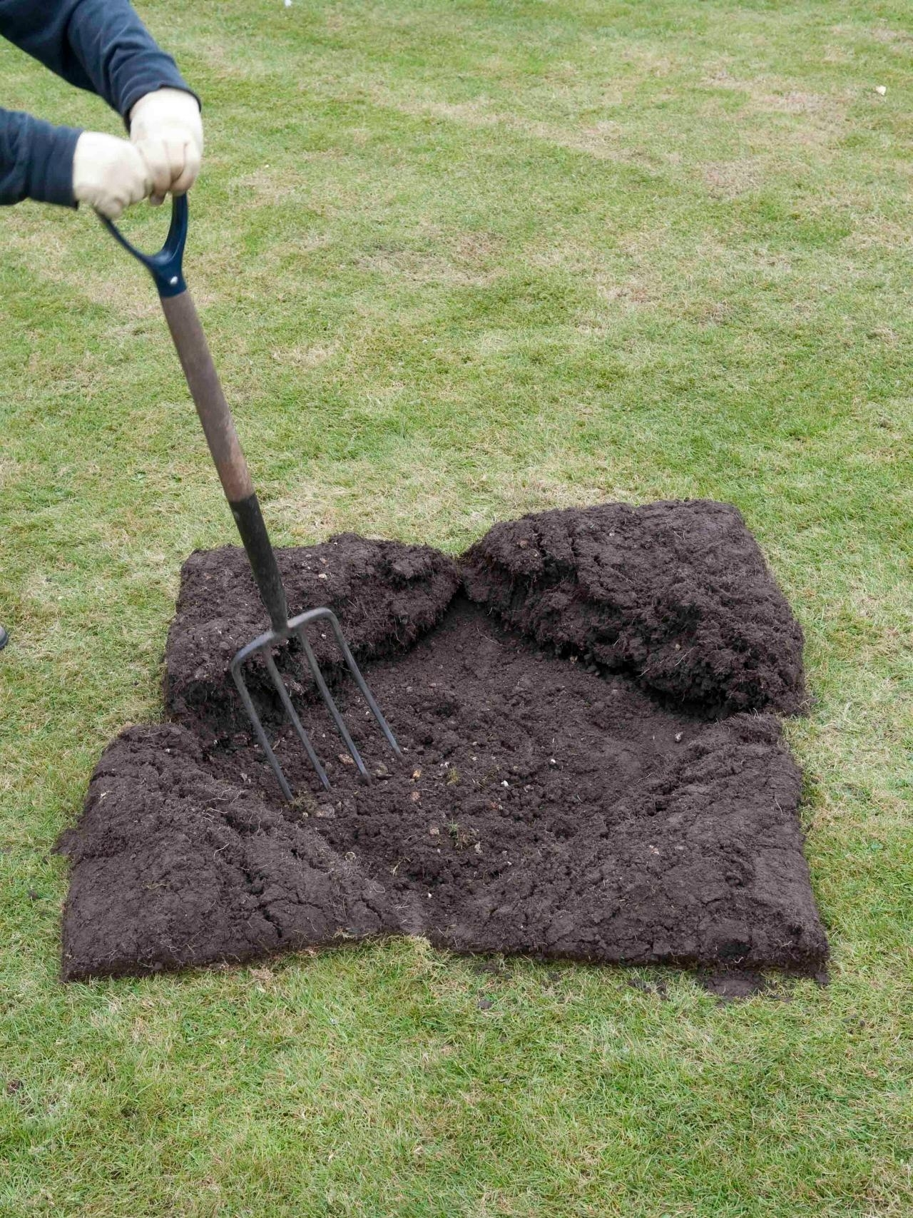 Image of: How To Create A Level Lawn Hgtv Throughout How To Dig Up Landscape Edgers How To Dig Up Landscape Edgers