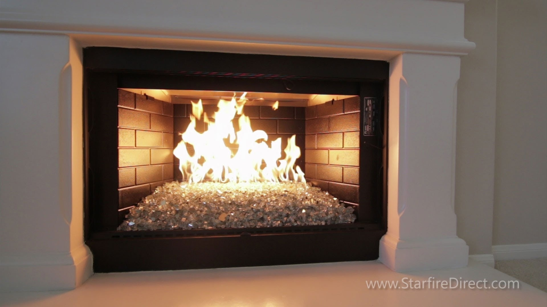 Image of: How To Install An H Burner And Fire Glass In Your Fireplace For Indoor Outdoor Fireplace Gas Indoor Outdoor Fireplace Gas Style