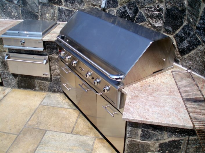 Image Of Best Backyard Bbq Ideas Faux Brick Outdoor Kitchen In Metal Stud Outdoor Kitchen Building With Metal Stud Outdoor Kitchen Ideas